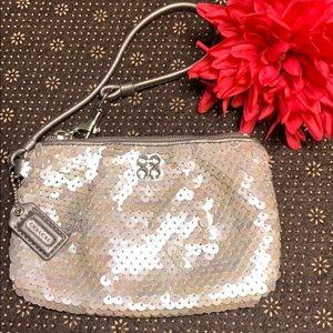 Coach vintage sequin wristlet pouch